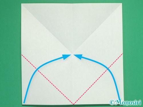 8枚の折り紙で手裏剣の作り方3