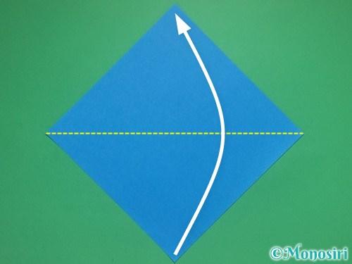 折り紙で雪の結晶の切り方1