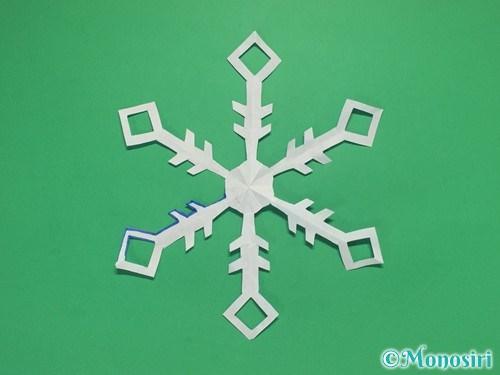 折り紙で雪の結晶の切り方12