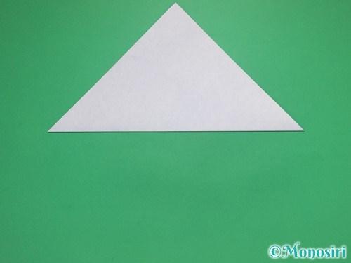 折り紙で雪の結晶の切り方2
