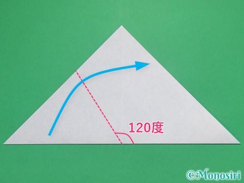 折り紙で雪の結晶の切り方4
