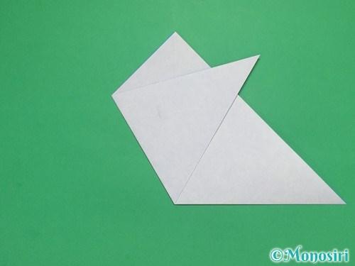折り紙で雪の結晶の切り方5