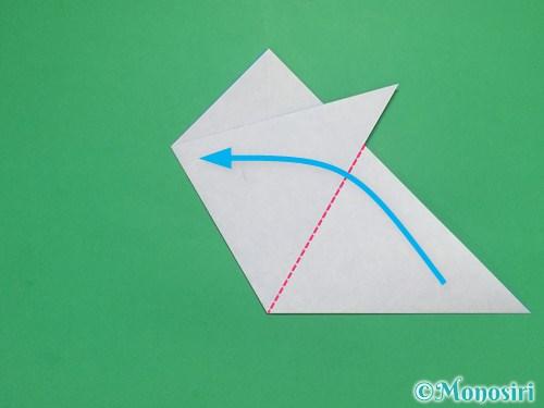 折り紙で雪の結晶の切り方6