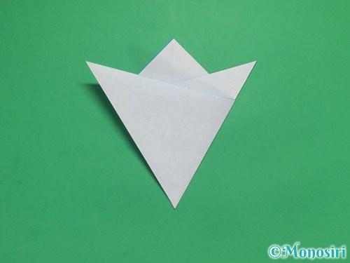 折り紙で雪の結晶の切り方7