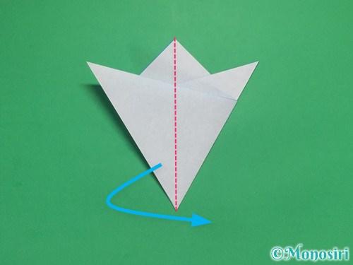 折り紙で雪の結晶の切り方8