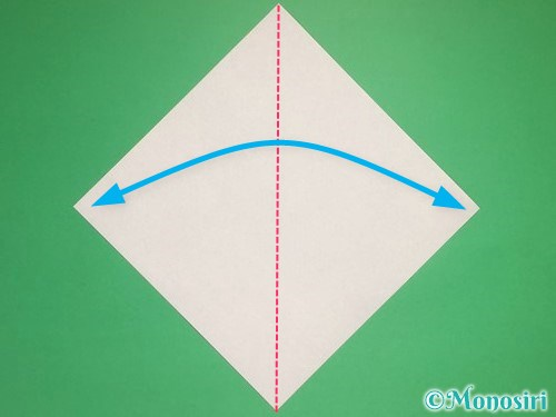 折り紙で雪の結晶の折り方1