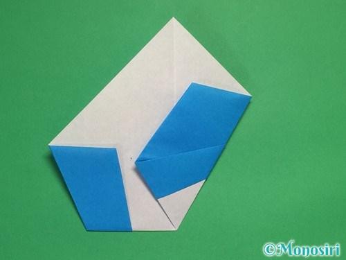 折り紙で雪の結晶の折り方11