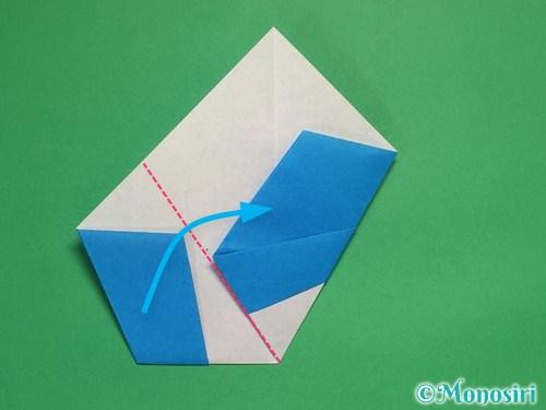 折り紙で雪の結晶の折り方12