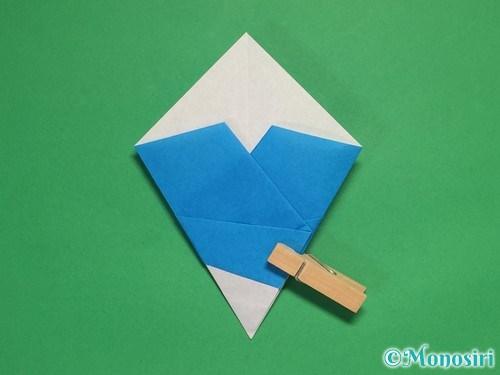 折り紙で雪の結晶の折り方13