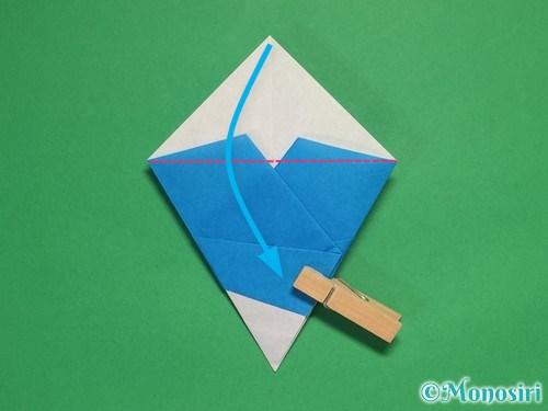 折り紙で雪の結晶の折り方14