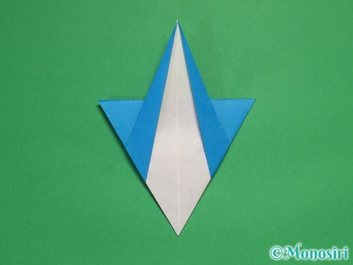 折り紙で雪の結晶の折り方17