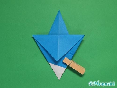 折り紙で雪の結晶の折り方15