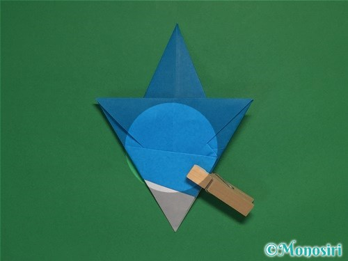 折り紙で雪の結晶の折り方16