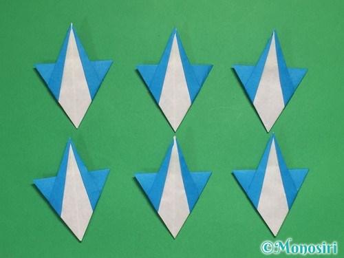 折り紙で雪の結晶の折り方18