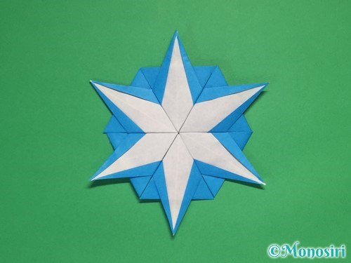 折り紙で雪の結晶の折り方19