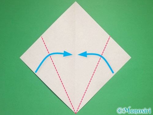折り紙で雪の結晶の折り方2