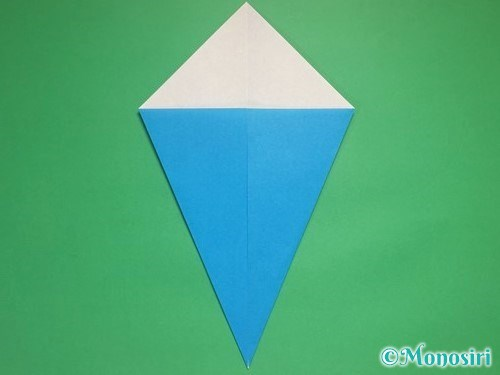折り紙で雪の結晶の折り方3