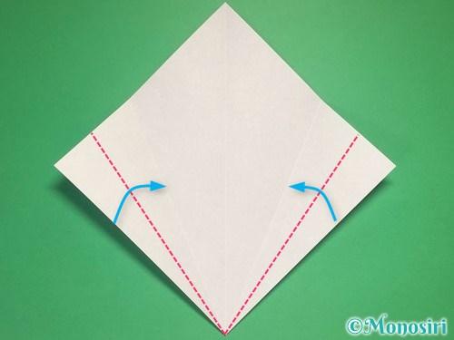 折り紙で雪の結晶の折り方4