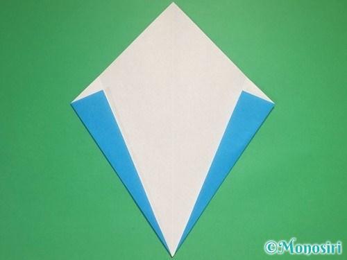 折り紙で雪の結晶の折り方5