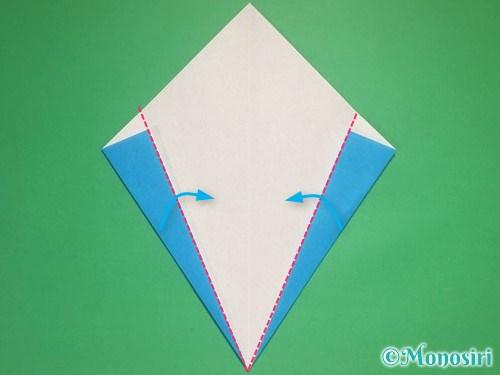 折り紙で雪の結晶の折り方6
