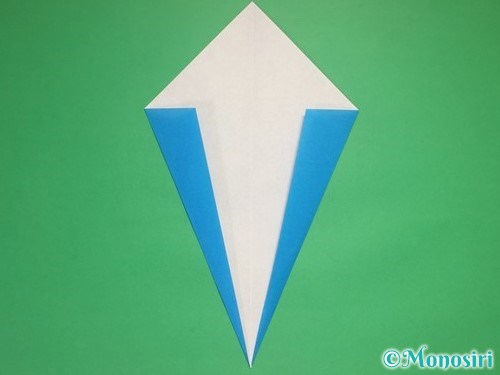 折り紙で雪の結晶の折り方7