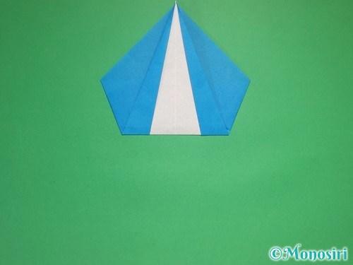 折り紙で雪の結晶の折り方9