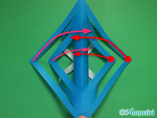 折り紙で立体的な雪の結晶の作り方11