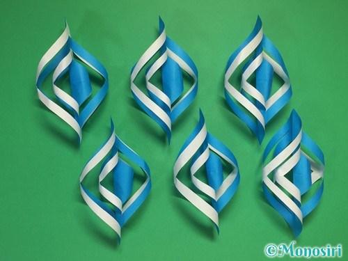 折り紙で立体的な雪の結晶の作り方13-2