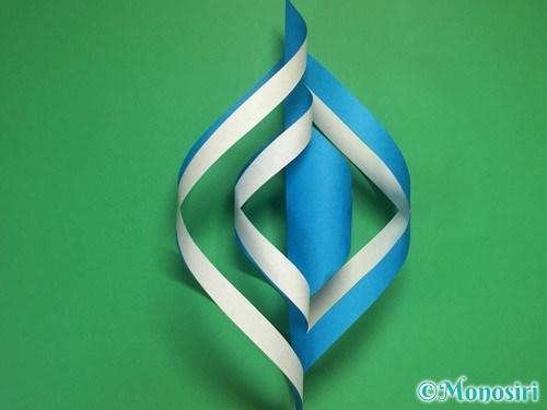 折り紙で立体的な雪の結晶の作り方13