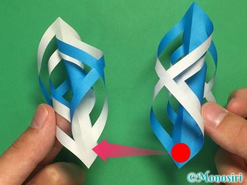 折り紙で立体的な雪の結晶の作り方14