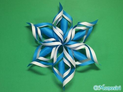 折り紙で立体的な雪の結晶の作り方17