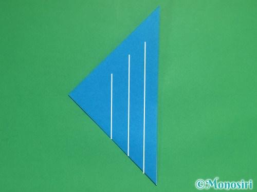 折り紙で立体的な雪の結晶の作り方5