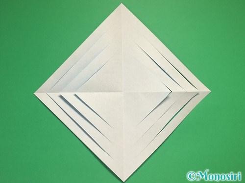 折り紙で立体的な雪の結晶の作り方6