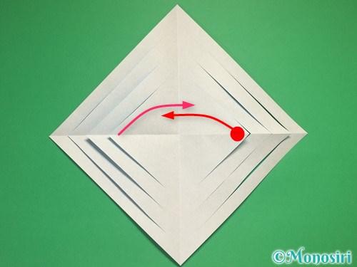 折り紙で立体的な雪の結晶の作り方7