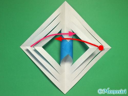 折り紙で立体的な雪の結晶の作り方9
