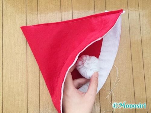 フェルトでサンタ帽子の作り方10