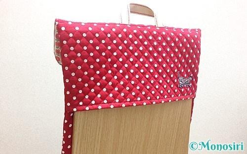 背もたれタイプの手作り防災頭巾カバー