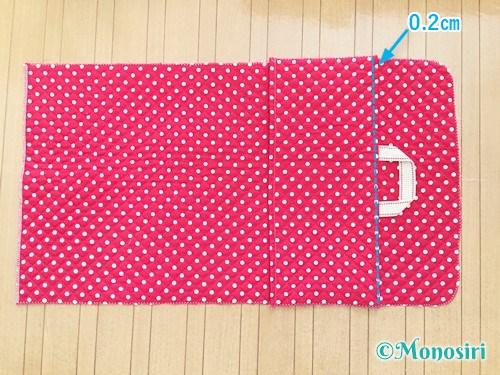 背もたれタイプの防災頭巾カバーの作り方11