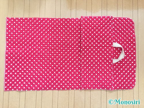 背もたれタイプの防災頭巾カバーの作り方12