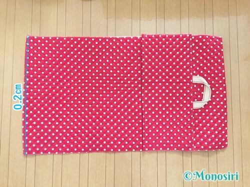 背もたれタイプの防災頭巾カバーの作り方15