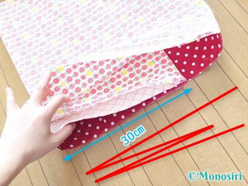 背もたれタイプの防災頭巾カバーの作り方18