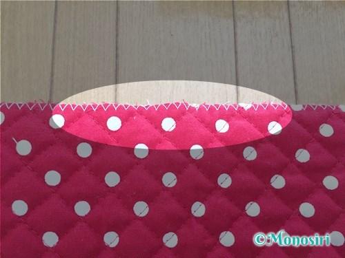 背もたれタイプの防災頭巾カバーの作り方2