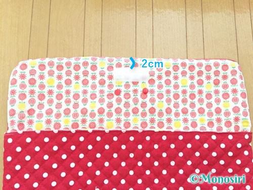 背もたれタイプの防災頭巾カバーの作り方29