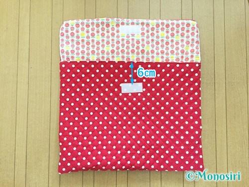 背もたれタイプの防災頭巾カバーの作り方30