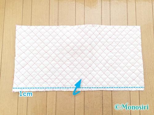 背もたれタイプの防災頭巾カバーの作り方5