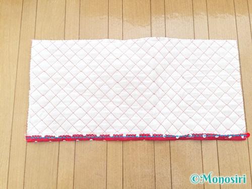 背もたれタイプの防災頭巾カバーの作り方6