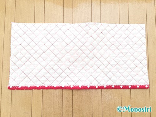 背もたれタイプの防災頭巾カバーの作り方7