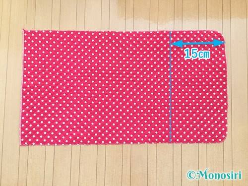 背もたれタイプの防災頭巾カバーの作り方8