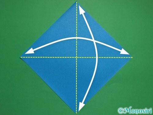折り紙で簡単な雪だるまの折り方1