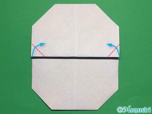 折り紙で簡単な雪だるまの折り方11